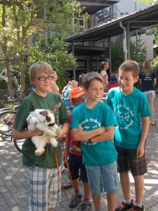 Joshi mit Luca und Speedy